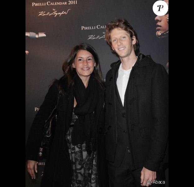 Romain Grosjean et Marion Jollès le 13 janvier 2011 à Paris