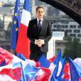 Nicolas Sarkozy le 1er mai 2012 lors de son meeting au Trocadéro à Paris