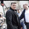 David Douillet le 1er mai 2012 lors du meeting de Nicolas Sarkozy au Trocadéro à Paris