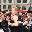 Charlize Theron et Sam Claflin lors de l'avant-première du film Blanche-Neige et le chasseur à Londres le 14 mai 2012