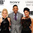 Alice Eve, Will Smith et Nicole Scherzinger à l'avant-première du film Men in Black III, à Londres le 16 mai 2012.