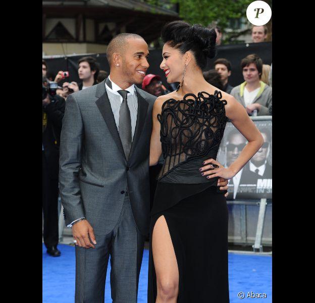 Lewis Hamilton et Nicole Scherzinger à l'avant-première du film Men in Black III, à Londres le 16 mai 2012.