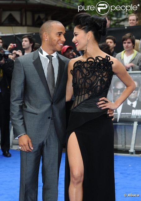 Lewis Hamilton et Nicole Scherzinger à l'avant-première du film  Men in Black III , à Londres le 16 mai 2012.