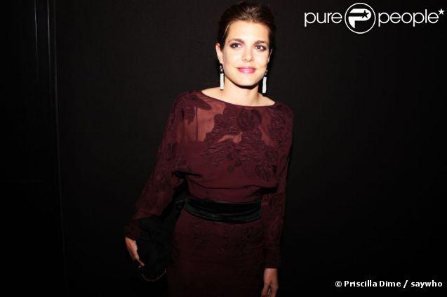 Charlotte Casiraghi lors de la soirée au Club by Albane le 19 mai 2012 à Cannes