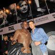 Rio Mavuba et Eden Hazard lors du concert de Rick Ross au Gotha Club à Cannes le 21 mai 2012