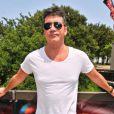 Simon Cowell, membre du jury de X Factor, arrive sur les auditions de X Factor, au Texas, le jeudi 24 mai 2012.