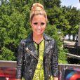 Demi Lovato, membre du jury de X Factor, arrive sur les auditions de X Factor, au Texas, le jeudi 24 mai 2012.