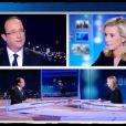 Laurence Ferrari face à François Hollande pour le débat le 2 mai 2012