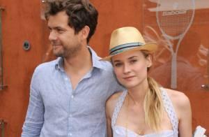 Roland-Garros 2012 : Diane Kruger estivale au bras de son homme Joshua Jackson