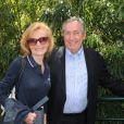 Gérard Houllier et sa femme le 31 mai 2012 dans les travées de Roland-Garros à Paris