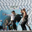 Madonna en pleines répétitions à Tel Aviv le 26 mai 2012.