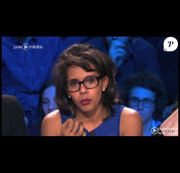 Audrey Pulvar, sur France 2 dans On n'est pas couché, le samedi 17 mars 2012.