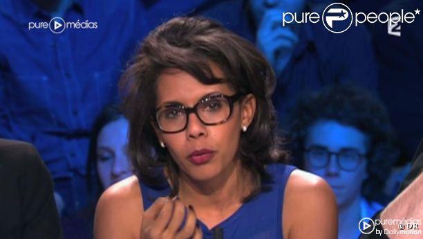 Audrey Pulvar, sur France 2 dans  On n'est pas couché , le samedi 17 mars 2012.