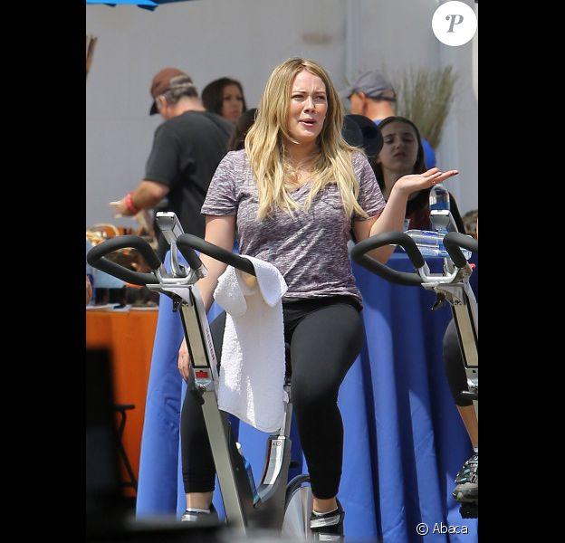 Hilary Duff, lors de l'opération de charité Pedal of the Pier, à Santa Monica, le dimanche 3 juin 2012.