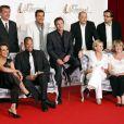 Claudia Cardinale, Bruno Wolkowitch et le casting de Hold Up à l'italienne au Festival Télé de Monte-Carlo