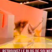 Solweig Rediger-Lizlow : Une ''belle'' chute en plein direct pour la Miss Météo