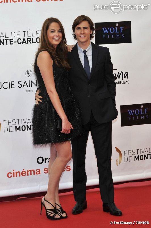 Anouchka Delon et Julien Dereins à la cérémonie d'ouverture du 52e Festival de Télévision de Monte-Carlo, le 10 juin 2012