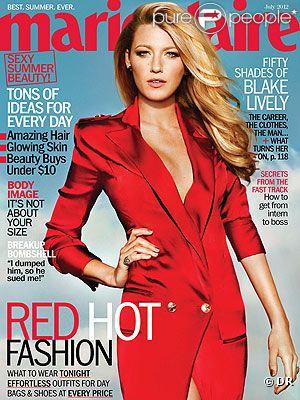 Blake Lively en couverture de Marie Claire US du mois de juillet