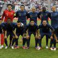 L'équipe de France lors du match de l'Euro entre la France et l'Angleterre (1-1) qui s'est déroulé le 11 juin 2012 à Donetsk en Ukraine