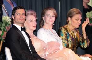 La reine Noor et Farah Pahlavi secondent le prince Carl Philip et sa grand-tante
