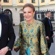 L'ex-impératrice d'Iran Farah Pahlavi.   Le prince Carl Philip de Suède et la comtesse Marianne de Wisborg étaient bien entourés pour la remise des prix d'art Marianne and Sigvard Bernadotte Art Awards, le 7 juin 2012 au Grand Hôtel de Stockholm.