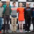 Marc Webb, Rhys Ifans, Andrew Garfield, Emma Stone, Avi Arad et Matt Tolmach lors de la conférence de presse du film The Amazing Spider-Man au Japon à Tokyo le 12 juin 2012