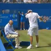 David Nalbandian perd ses nerfs et blesse un arbitre en finale du Queen's