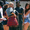 Amber Rose sur le tournage de School Dance à Norwalk, le 18 juin 2012