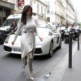 Kanye West et Kim Kardashian se promènent à Paris le 19 juin 2012