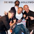 Franck Gastambide, Ramzy Bedia, Jib Pocthier et Medi Sadoun lors de l'avant-première du film Les Kaïra à l'UGC Ciné Cité de Bercy à Paris le 18 juin 2012