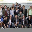 Jamel Debbouze et la troupe du Comedy Club prennent la pose pour la conférence de presse de la saison 5 du Jamel Comedy Club chez Canal + le mercredi 20 juin 2012
