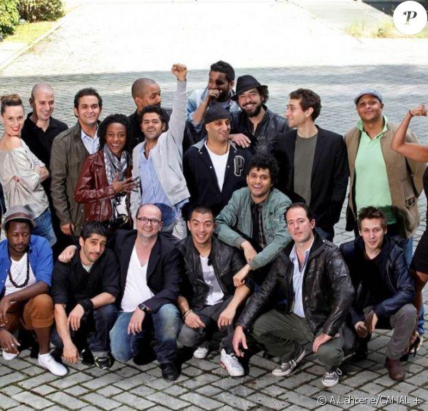 Jamel Debbouze et les membres du Comedy Club assurent la promo de la saison 5 du Jamel Comedy Club sur Canal +