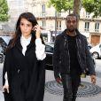 Kanye West et Kim Kardashian vont déjeuner à La Villa à Paris le 21 juin 2012