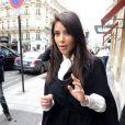 Kim Kardashian et son amoureux Kanye West, se rendent à La Villa, pour déjeuner, le 21 juin 2012 à Paris