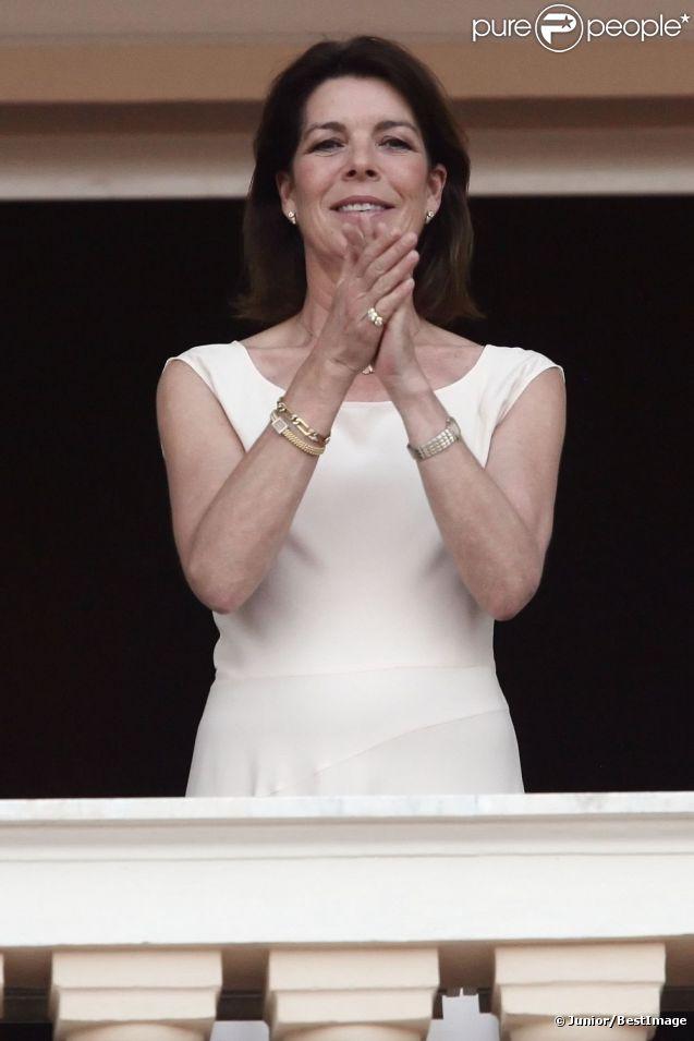 Caroline de Monaco, superbe et gracieuse, lors de la fête de la Saint Jean à Monaco le 23 juin 2012