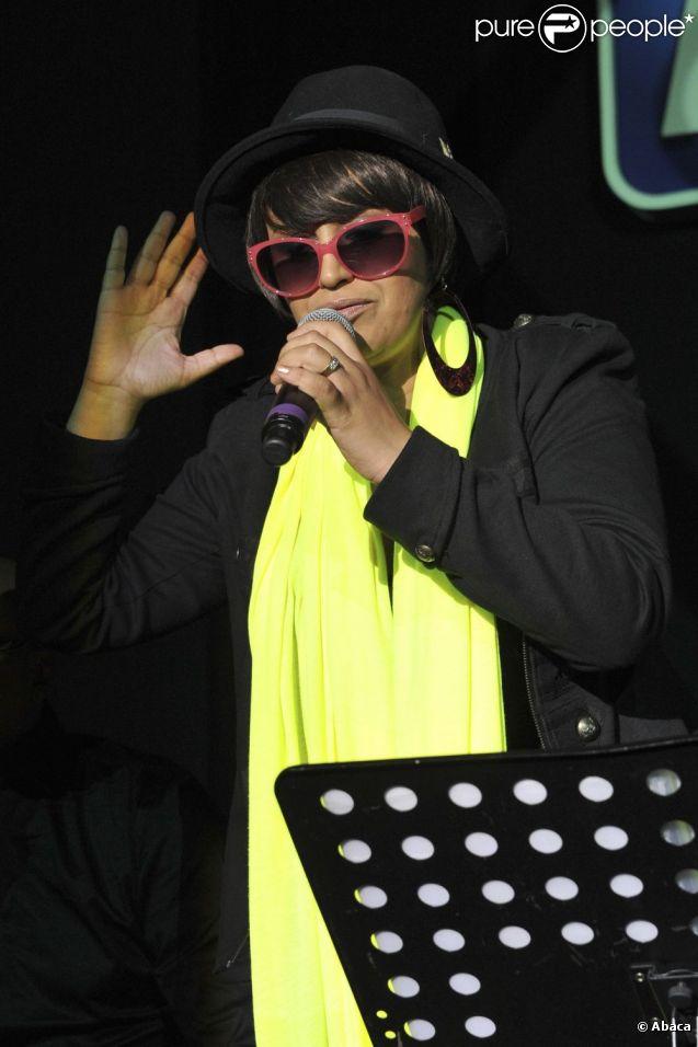Lââm lors du concert 'L'été des Sports FDJ' organisé par la Française des Jeux au 1515 à Paris, le 26 juin 2012