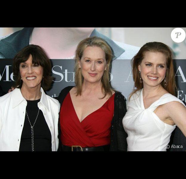Nora Ephron avec ses actrices Meryl Streep et Amy Adams pour la présentation au festival de Deauville de Julie & Julia en 2009