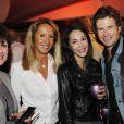EXCLU : Nicole Coullier, Anne Cassel et sa fille Candice Hugo avec son ami, au Stade de France pour les concerts de Johnny Hallyday, juin 2012.