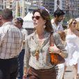 """""""La princesse Caroline est passée voir sa fille Charlotte Casiraghi lors du Jumping international de Monte-Carlo (CSI5*) le 28 juin 2012."""""""