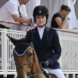 """Jessica Springsteen, fille du Boss Bruce Springsteen, lors du Jumping international de Monte-Carlo le 28 juin 2012."""