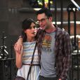 Keira Knightley et Adam Levine sur le tournage de la comédie romantique  Can a Song Save Your Life   ? , à New York le 29 juin 2012.