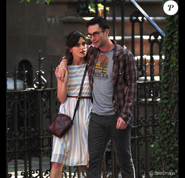 Keira Knightley et Adam Levine sur le tournage de la comédie romantique Can a Song Save Your Life ?, à New York le 29 juin 2012.