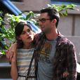 Keira Knightley et Adam Levine sur le tournage de  Can a Song Save Your Life   ? , à New York le 29 juin 2012.