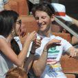 Marion Jollès et Romain Grosjean le 28 mai 2012 à Roland-Garros. La journaliste de TF1 et le pilote de F1 se sont mariés le 27 juin 2012 à Chamonix.