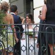 MARIAGE DU PILOTE DE FORMULE 1 FRANCO SUISSE DE L'ECURIE LOTUS ROMAIN GROSJEAN ET DE LA JOURNALISTE DE TF1 MARION JOLLES A CHAMONIX LE 27 JUIN 2012 qui a eu lieu au Majestic Hôtel. La soirée a eu lieu aux Fermes de Marie à Mégève.