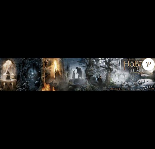 La bannière du film Le Hobbit : Un voyage inattendu de Peter Jackson