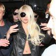 Lady Gaga de retour aux États-Unis à l'aéroport de Los Angeles, le 9 juillet 2012.