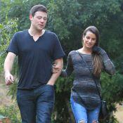Lea Michele et Cory Monteith tendres pour un dîner en amoureux