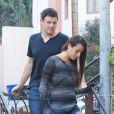 Lea Michele et Cory Monteith dans les rues de Los Angeles, le 9 juillet 2012