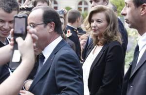 Valérie Trierweiler : Bain de foule avec le président aux jardins de l'Elysée